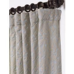Westminster Light Blue 118 inch Cotton Damask Curtain Panel