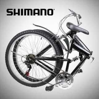 New 26 Folding Mountain Bike Foldable Bicycle 6 SP Speed