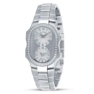 Philip Stein Womens Dual Display Diamond Watch