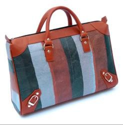 Recycled Plastic Brick Road Briefcase (India)