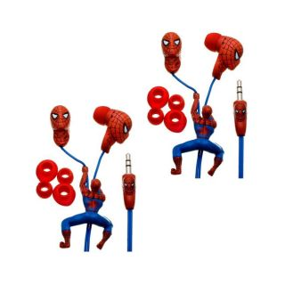 Nemo Digital Spider Man 3D Earbud Headphones (Case of 2)