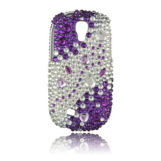 Luxmo Purple/ Silver Rhinestone Case for Samsung Gravity Smart