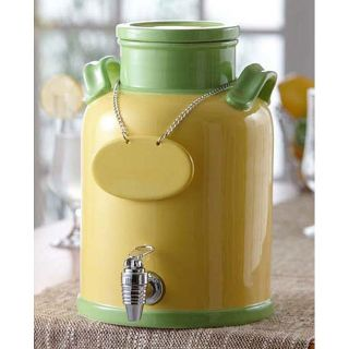 American Atelier Green/ Yellow 240 ounce Ceramic Beverage Dispenser