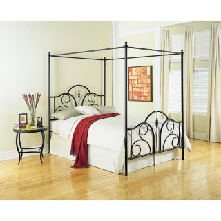 Contour King Canopy Metal Bed