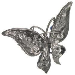 Cano Multi color Crystal Stones Butterfly Brooch