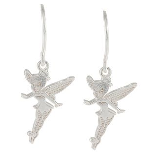 Disney Sterling Silver Tinkerbell Dangle Earrings