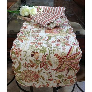 Flowers in Paradise Quilted Cotton Table Runner