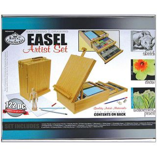 Royal and Langnickel 122 piece Desk Easel and Artist Kit Set