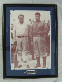 Babe Ruth and Lou Gehrig Custom Framed Print