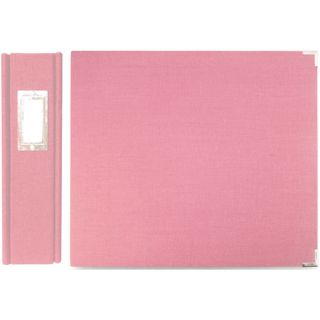 We R Memory Keepers Linen 12x12 inch Bubble Gum Postbound Album