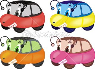 Cartoon cars  Stock Vector © Irina Kartashova #1012428