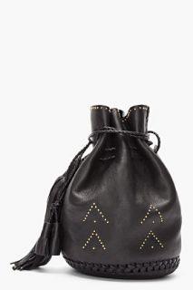 Wendy Nichol Black Gold studded Bullet Bag for women