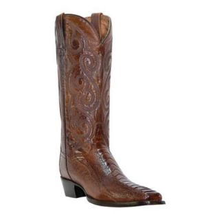 Mens Dan Post Boots Genuine Ostrich Leg 13in DP26626 Antique Tan