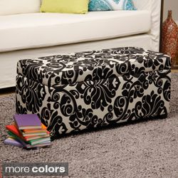 Bolbolac Floral Print Storage Ottoman with Button Today $87.99   $91