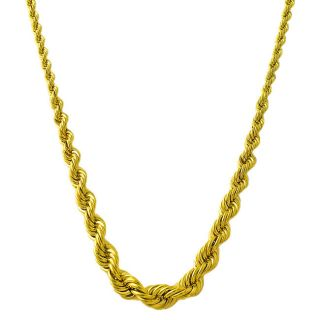 14k Yellow Gold Graduated Rope Necklace
