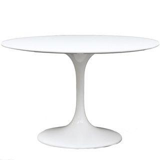 Eero Saarinen Style White 40 inch Tulip Dining Table