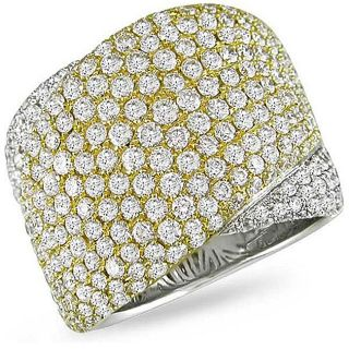 18k Two tone Gold 4 3/4ct TDW Diamond Ring (G H, SI2)