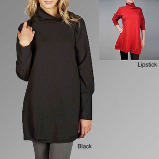 AtoZ Womens Red Funnel Neck Dress
