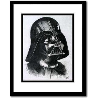 Darth Vader from Star War Sketch Portrait, Charcoal Graphite Pencil