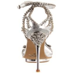 Celeste Womens Joyce 07 Silver X Rhinestone Heel