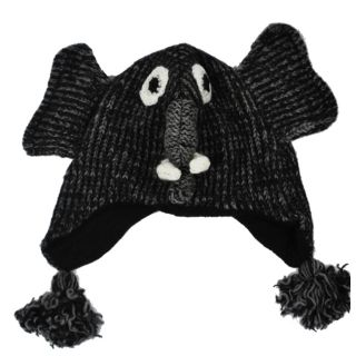 Kids Wool Fleece Lined Elephant Beanie (Nepal)