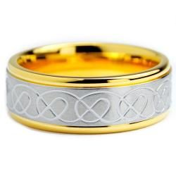 Goldplated Stainless Steel Celtic Design Ring (8 mm)