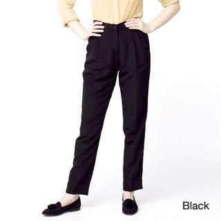 American Apparel Womens High Waist Pleated Pants