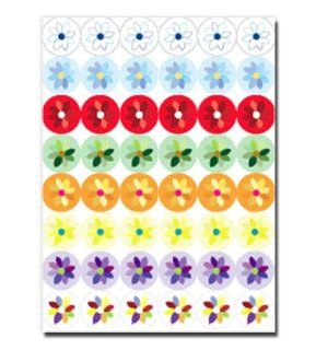 Flowers Mini, Contempo Acid Free  48 Stickers Per Page, 4 Pages, 192