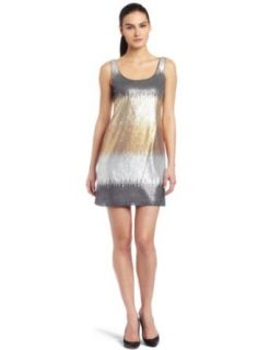 Maggy London Womens Sleeveless Sequin Dress,Antique Gold