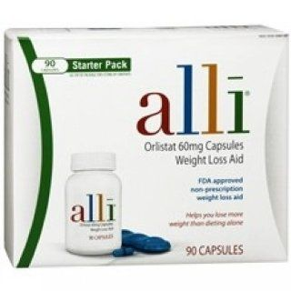 Alli Weight Loss Aid, Orlistat 60mg Capsules, 90 Count