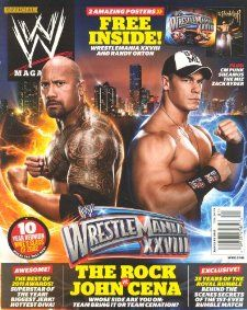 WWE Magazine January 2012   The Rock, John Cena: John Mihaly: