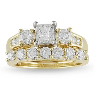 14k Two tone Gold 2ct TDW Diamond Bridal Ring Set (G H, SI1 SI2