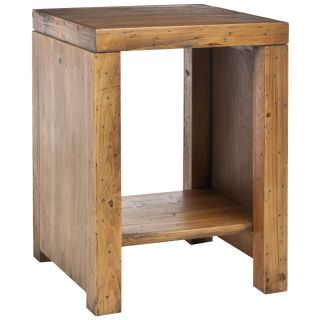 this item stamford reclaimed wood finish end table sale $ 118 79