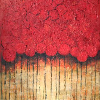 Art in Style Abstract Red Flowers Hand Painted Canvas Wall Art Today