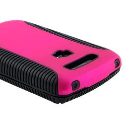 Black/ Hot Pink Hybrid Case for BlackBerry Torch 9800/ 9810