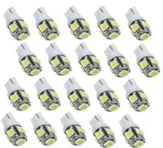 Zone Tech 20x 194 168 2825 5 smd White High Power LED Car Lights Bulb
