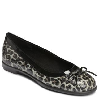 A2 by Aerosoles Becovery Leopard Black/Grey Ballet Flat