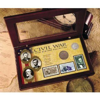 Civil War Coin and Stamp Collection Boxed Set Home