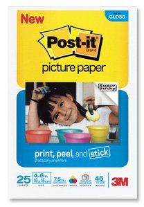 Post it 4 x 6 Picture Paper, Soft Gloss Finish, 25 Sheets