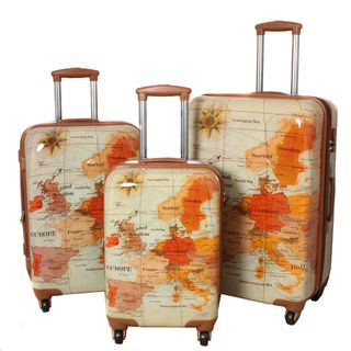 World Traveler Euro 3 Piece Expandable Lightweight Hardside Spinner