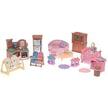 Loving Family Dollhouse Premium Gift Set Kitchen, Family