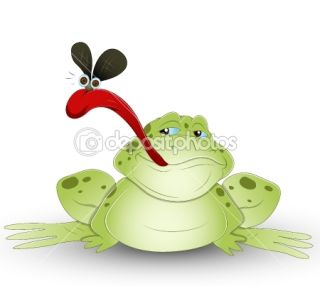 Cartoon Frog  Stock Vector © baavli #10254505
