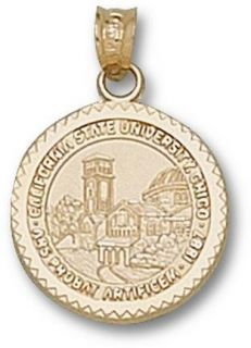 California State (Chico) Wildcats Seal Pendant   14KT