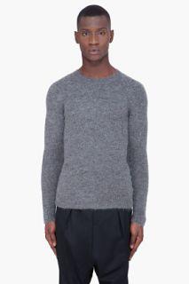 Neil Barrett Grey Mohair Knit Raglan Sweater for men