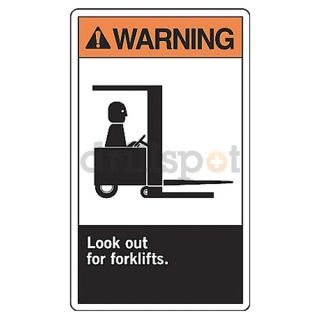 Accuform Signs MRHR300VP Warning Sign, 14 x 10In, ORN and BK/WHT
