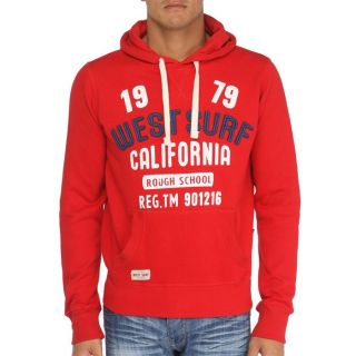 WEST SURF CALIFORNIA Sweat H Rouge   Achat / Vente SWEATSHIRT WEST