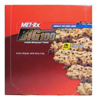 Met Rx Big100 Chocolate Chip Cookie Dough 24 bars   3.52oz each