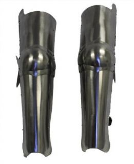Steel Full Leg Armor: Medieval Knight Costume: Clothing