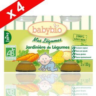 Babybio Petit Pot Bio Jardinière Légumes 4x 2x130g   Achat / Vente