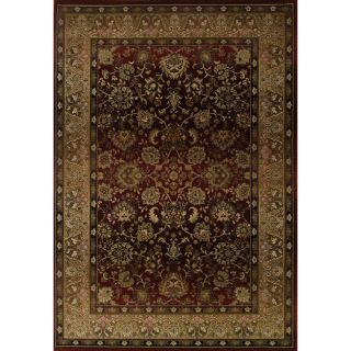 Baldwin Red/Beige Traditional Area Rug (99 x 122)